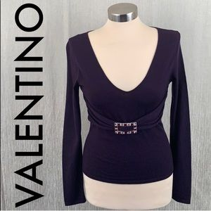 👑 VALENTINO KNIT EMBELLISHED TOP 💯AUTHENTIC